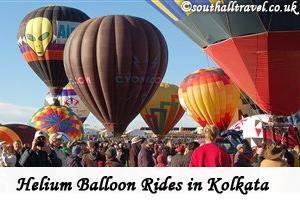 Helium Balloon Rides to Thrill Tourists in Kolkata, India