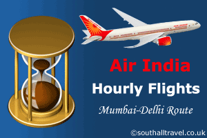 Hourly Flights on the Busy Mumbai-Delhi Route by Air India