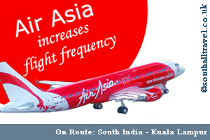 AirAsia Increases Flights to South India