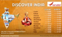 Air India's Super Saver Fares To India!