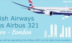 British Airways Brings Airbus 321 on the Cairo-London