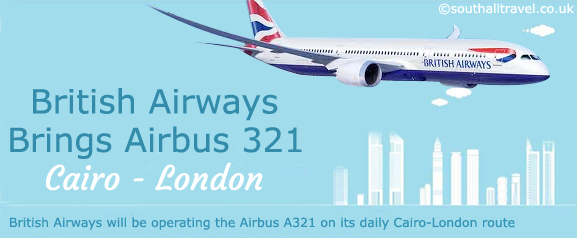 Brings Airbus 321 on the Cairo London Route