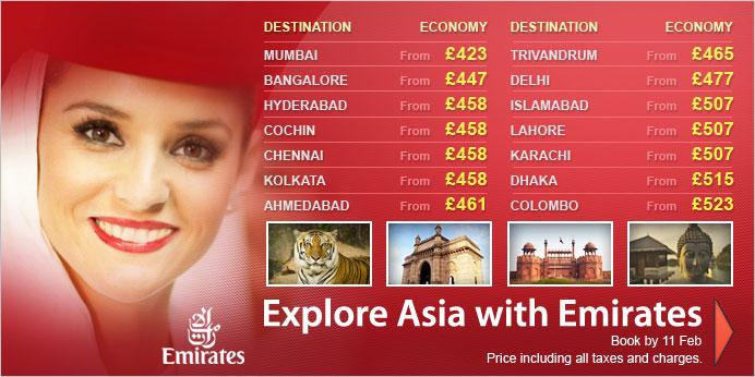 Emirates Super Saver Discounts To Asia