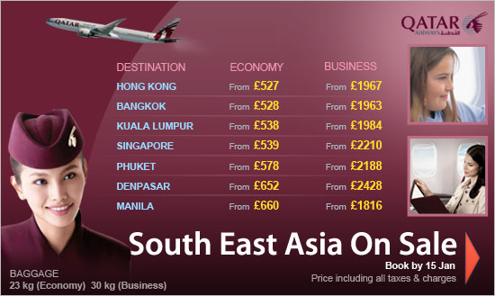 Qatar Airways Puts South East Asia On Sale