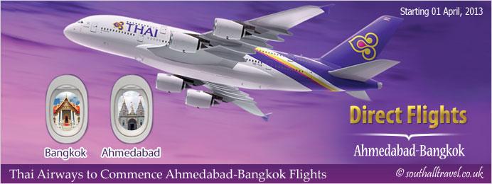 Thai Airways to Commence Ahmedabad Bangkok Flights
