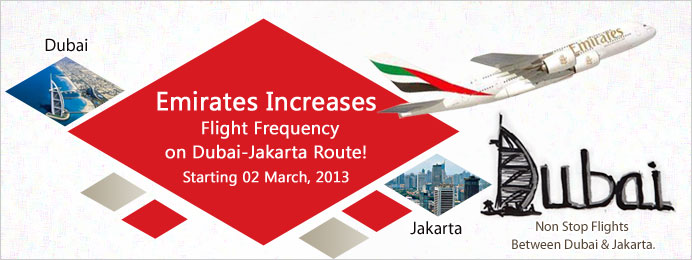 Emirates increases flight frequency on Dubai Jakarta route