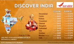 Air India's Special Fares To India – One Day To Go……….