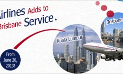 Malaysia Airlines Adds to Kuala Lumpur-Brisbane Service