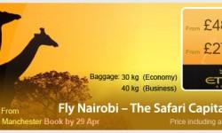 Etihad's Special Fares To Nairobi!!!