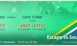 South African Airways' Special Fares To South Africa!!!