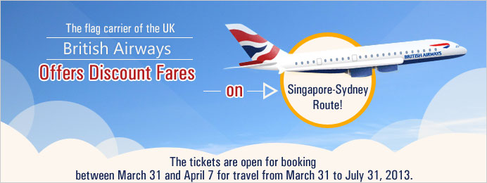 British Airways Offers Discount Fares on Singapore-Sydney Route
