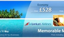 SriLankan Airlines Special Fares To Maldives!!
