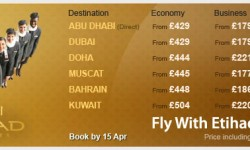 Etihad's Super Saver Fares To Middle East!!