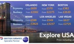 British Airways Super Saver Extravaganza To USA!!!