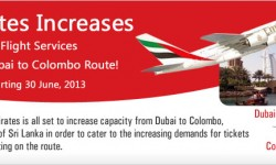 Emirates to Increase Flights Services to Colombo