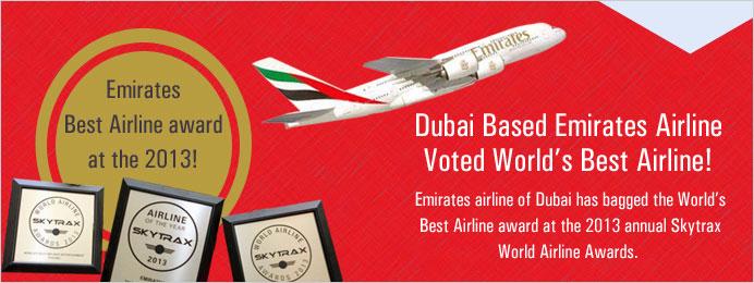 Dubai based emirates airline voted world best airline