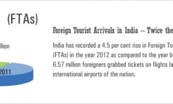 Foreign Tourist Arrivals in India – Twice the World Average