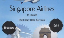 Singapore Airlines to Launch Third Daily Delhi Services
