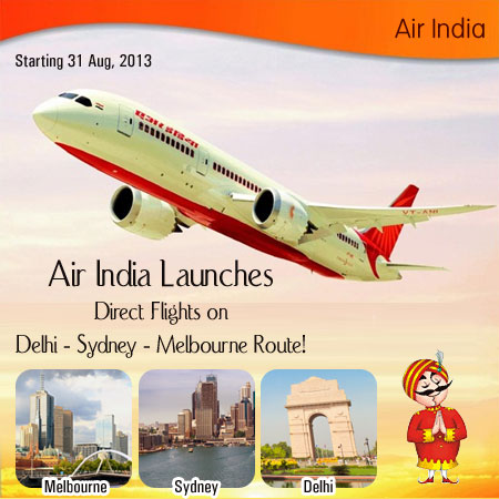 air india launches direct flights on delhi sydney. Black Bedroom Furniture Sets. Home Design Ideas