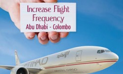 Etihad Airways to Increase Its Flight Frequency to Sri Lanka