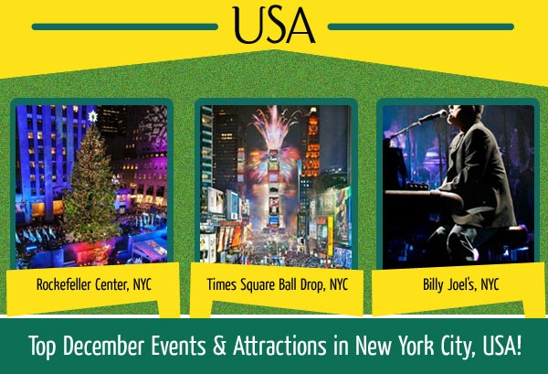 Top december events attractions in new york city usa for Top attractions in nyc