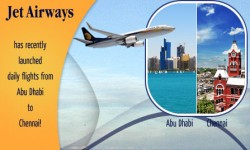 Jet Airways Launched Daily Flights from Abu Dhabi to Chennai, India