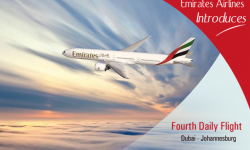 Dubai's Emirates Introduces Fourth Daily Flight to Johannesburg