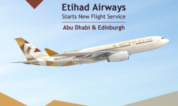Etihad Airways Starts New Flight Service between Abu Dhabi and Edinburgh