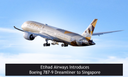 Etihad Airways Introduces Boeing 787-9 Dreamliner to Singapore
