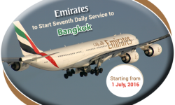 Emirates to Start Seventh Daily Service to Bangkok from July
