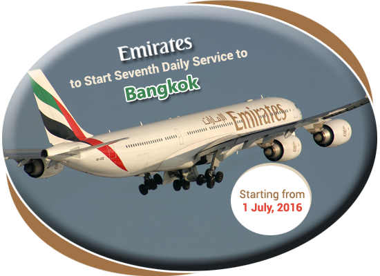 Emirates Start Seventh Daily Service to Bangkok