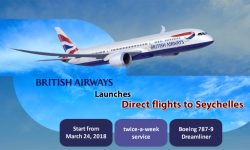 British Airways Launches Direct flights to Seychelles